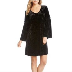 NWT Karen Kane Velvet Bell Sleeves Dress